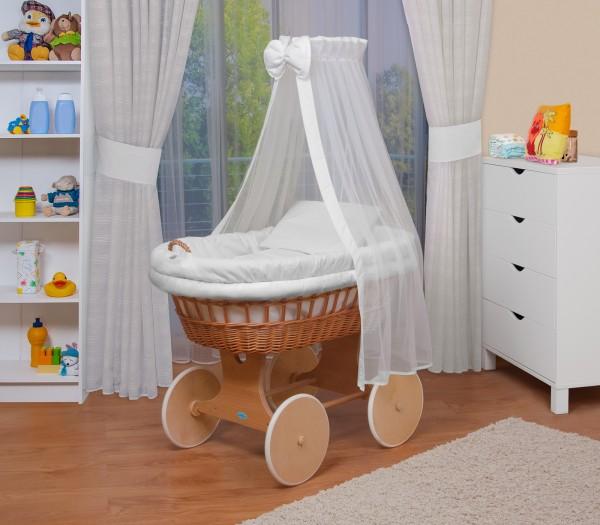WALDIN Baby Stubenwagen Set Mit AusstattungXXLBollerwagenkomplett18 Modelle WahlbarGestell Rade