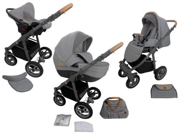 Angebot !Neues Modell 2019 Kinderwagen MONO Kombikinderwagen 3in1 System 9 Farben wählbar