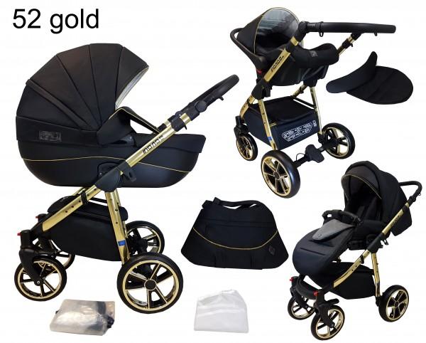 Sonderedition Kinderwagen MONO Kombikinderwagen 3in1 System Megaset 6 Farben wählbar