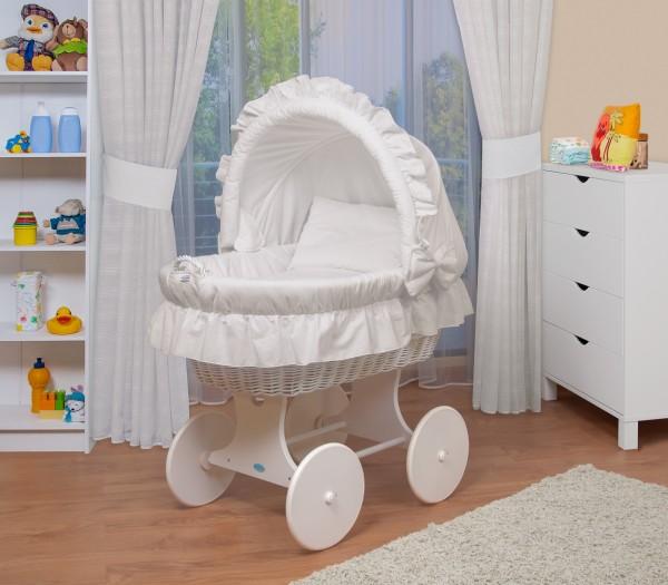 WALDIN Baby Stubenwagen-Set mit Ausstattung,XXL,Bollerwagen,komplett,6 Modelle wählbar,Gestell/Räder